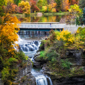 Respite  by Karen Celella - Landscapes Mountains & Hills ( mountians, waterfalls, autumn, colors, fall, pixoto, forest, ithaca, landscape, ny, color, colorful, nature )