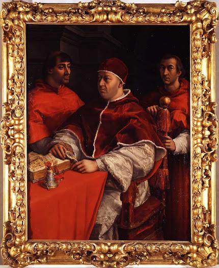 Raffaello, Leone X e c ardinali
