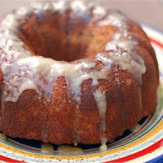 Apple Spice Bundt Cake with Maple Glaze