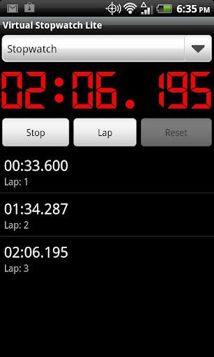 Virtual Stopwatch Lite