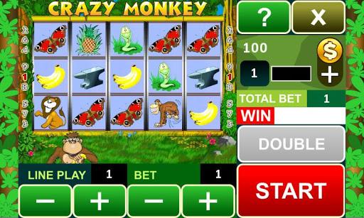 Crazy Monkey slot machine - screenshot
