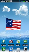 Screenshot of American Flags LWP Free