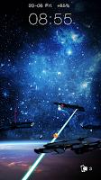 Screenshot of Space Warship Live LockerTheme