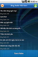 Screenshot of Blog Radio Việt
