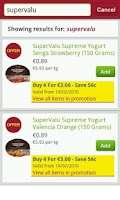 Screenshot of SuperValu