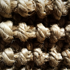 Roped Rug #1 by Don Teachout - Abstract Patterns ( abstract, rug, rope, pattern, brown, knots, knot )