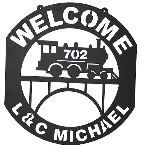 L & C Michael Railroad Sign