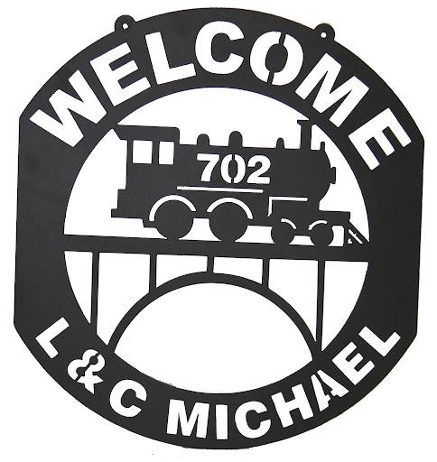 L & C Michael Railroad Sign