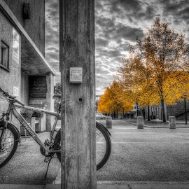 Askim, Norway by IP Maesstro - Transportation Bicycles ( hdr, norge, maesstro, askim, norway, selective color, pwc )