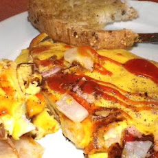 South Beach Diet Cheesy Ham Omelet