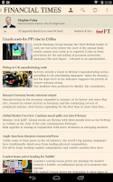 Screenshot of Financial Times