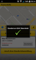 Screenshot of ADAC Pannenhilfe
