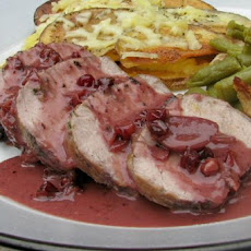 Pork Loin With Lingonberry Sauce