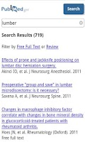 Screenshot of PubMed search