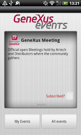 GeneXus Events