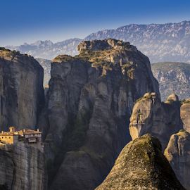 Meteora by Alecu Gabriel - Landscapes Travel ( mountains, meteora, greece, landscape, travel photography )