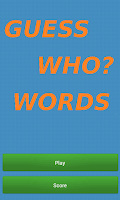 Screenshot of Guess Who Words
