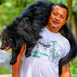 Tarzan by John Greene - People Portraits of Men ( wild, zoo, thailand, binturong, malaysia, animal )