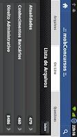 Screenshot of Mobile Concursos