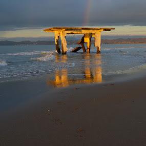 Still life by Olsi Belishta - Novices Only Objects & Still Life ( sand, reflection, broken house, beach, albania )