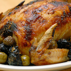 Roasted Chicken with Olives and Prunes