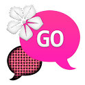 GO SMS - Pink Dot Flower icon