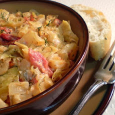 Tomato and Cabbage Fricassee