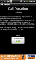 Screenshot of Call Duration Lite
