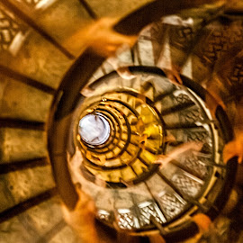 Many hands  by Vibeke Friis - Abstract Patterns ( paris, stairs, arc de triomphe, movement, round, long exposure )