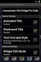 Screenshot of Home Screen Title Widget Pro