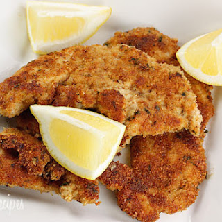 Turkey Cutlets with Parmesan Bread-Crumb Crust