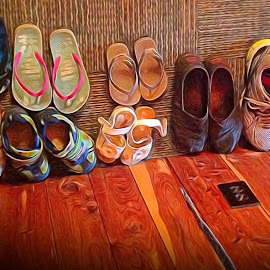 Cabin Shoes by Allen Crenshaw - Digital Art Things ( shoes, cabin, footwear, digital art, collection, photography )