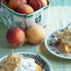 Ginger Shortcakes with Fresh Peaches