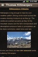 Screenshot of Thomas Kilimanjaro Guide