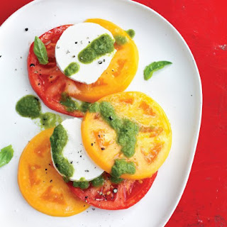 Tomato and Goat-Cheese Salad with Basil Vinaigrette