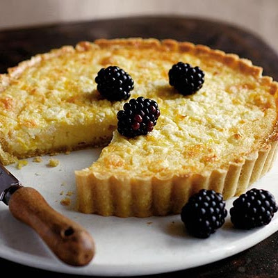 Sweet Lemon & Goat's Cheese Tart