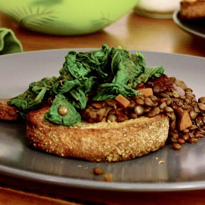 Barbecued Lentils