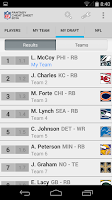 Screenshot of NFL Fantasy Cheat Sheet 2014