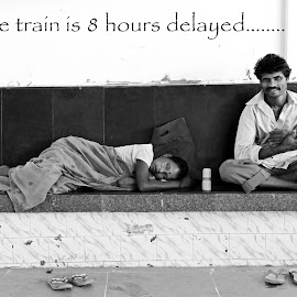 train is delayed... by Asif Bora - Typography Quotes & Sentences (  )
