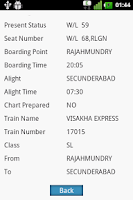 Screenshot of Rail PNR Fast and Easy