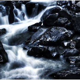 Cinulang Waterfall by Viere Septian - Landscapes Waterscapes ( waterscape, waterfall, landscapes, stones, natural )