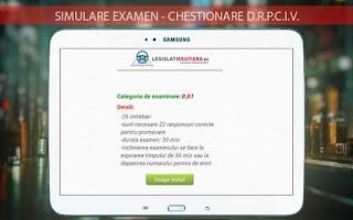Screenshot of Legislatie Rutiera-chestionare