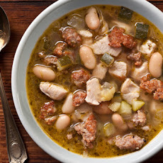 Pesto, Chicken, and White Bean Soup Recipe