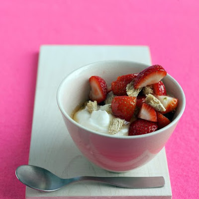 Yogurt with Strawberries and Honey