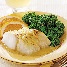 Broiled Halibut with Orange- Shallot Butter Sauce