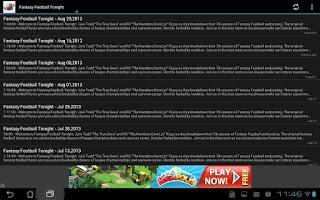 Screenshot of Fantasy Football News
