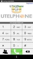 Screenshot of UTel Phone