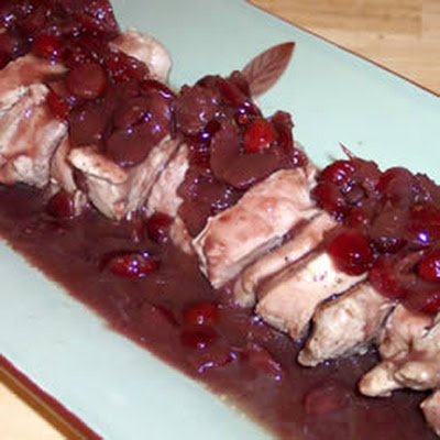 Pork Medallions with Port and Dried Cranberry Sauce