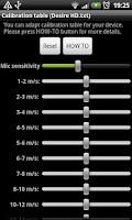 Screenshot of Wind Speed Meter anemometer