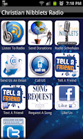 Screenshot of Christian Nibblets Radio